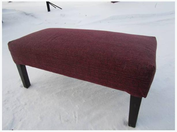 Red berry Ottoman Bench