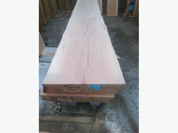 """4"""" thick live edge fir slab"""