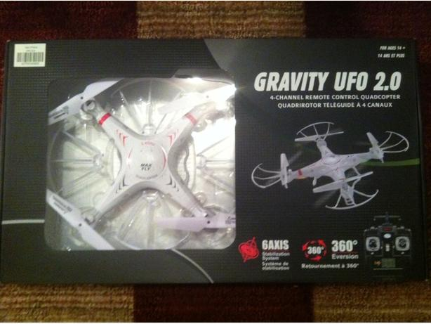 max fly gravity UFO 2.0 quadcopter / drone
