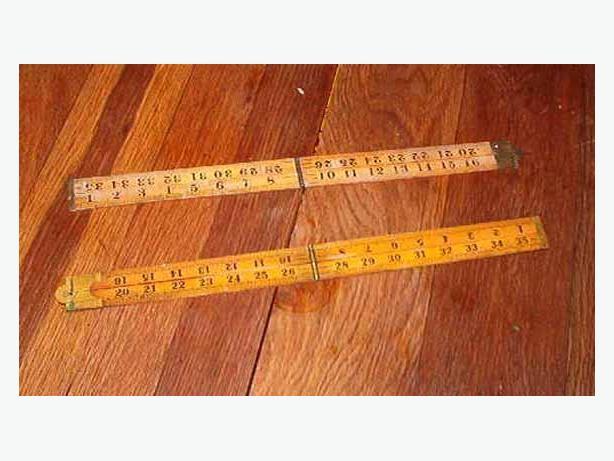 Vintage wooden rulers