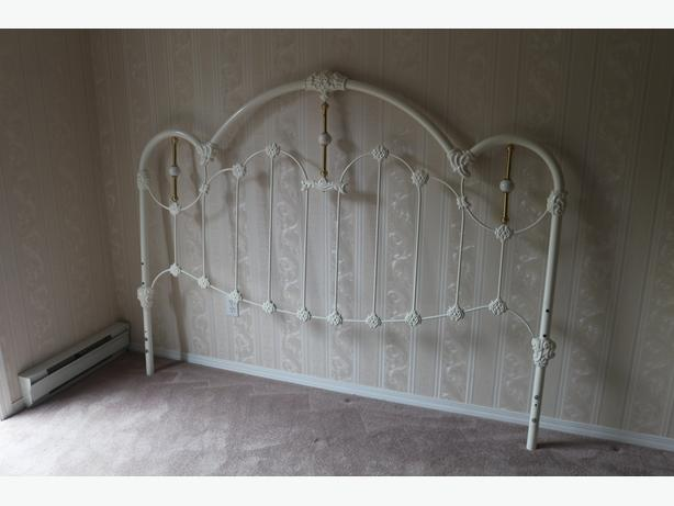 white metal headboard for king bed, ornate