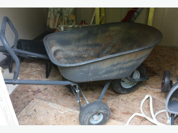 heavy duty wheelbarrow as back axle for extra weight