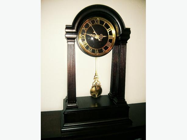 "Beautiful Bombay Mantel Clock 16.5"" Tall"