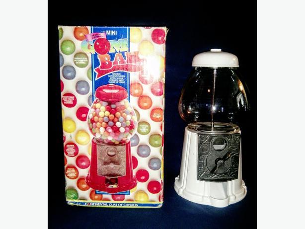 "Vintage Gum ball Machine 11.5"" with antique look"
