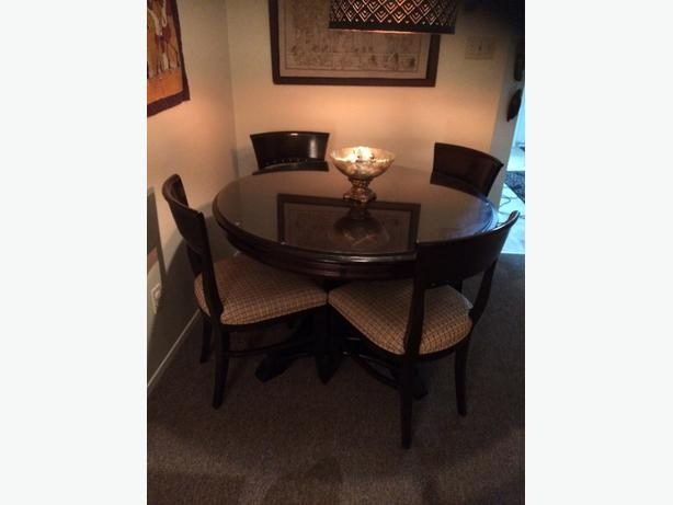 Wood dining table w chairs