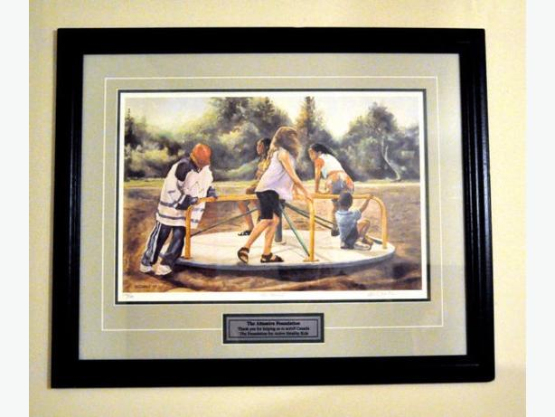 CAROUSEL PAINTING SIGNED & NUMBERED NEVILLE CLARKE