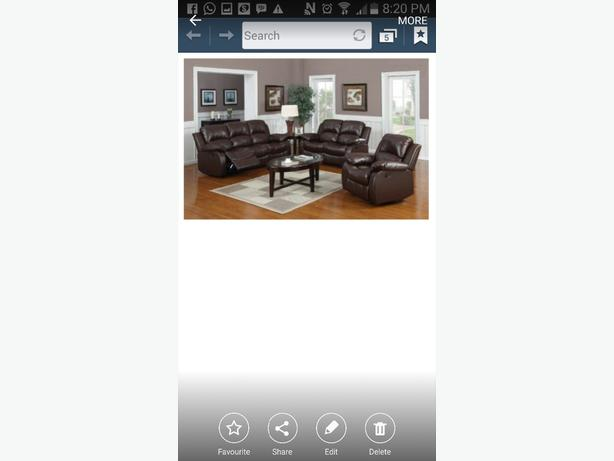 3 piece couch set that reclines