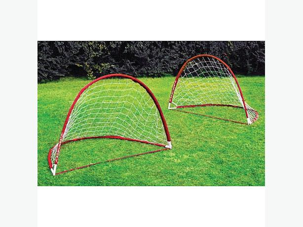 Portable child soccer goal 2 net set New