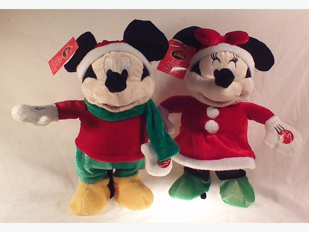 Musical plush Disney Christmas Mickey & Minnie
