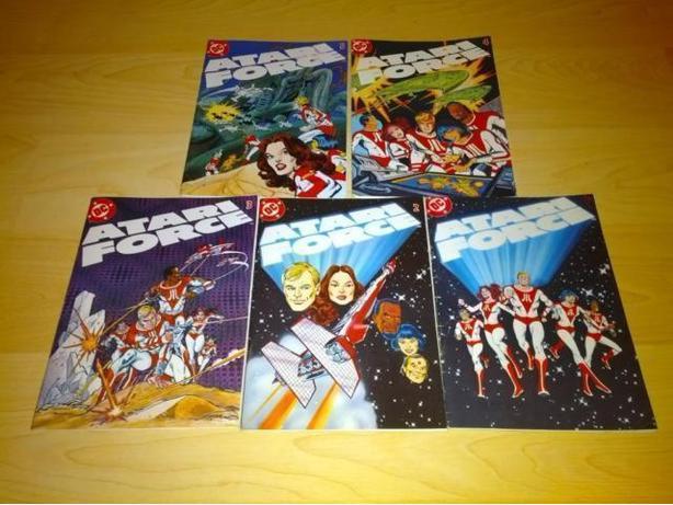 Complete 1982 Atari Force Comic Set #1-5