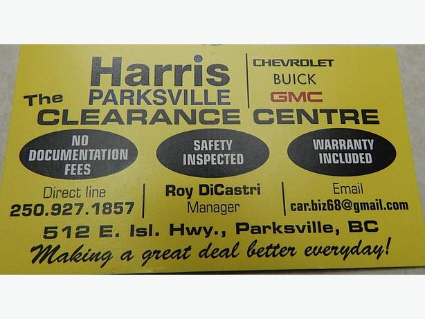HARRIS CHEV..PARKSVILLE CLEARANCE CENTRE..NOW TAKING CONSIGNMENTS