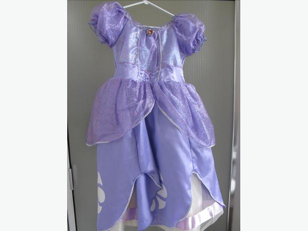 Girls Sofia the First Disney Costume Size 7
