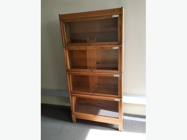 Barrister Bookcase, 4 sections with glass doors