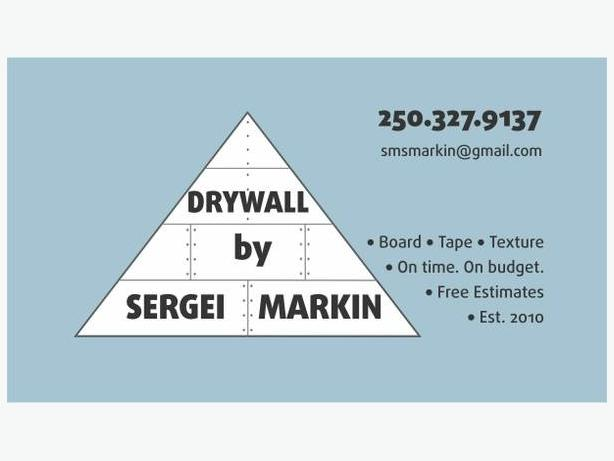 Drywall by Sergei Markin. High quality work. Value priced.