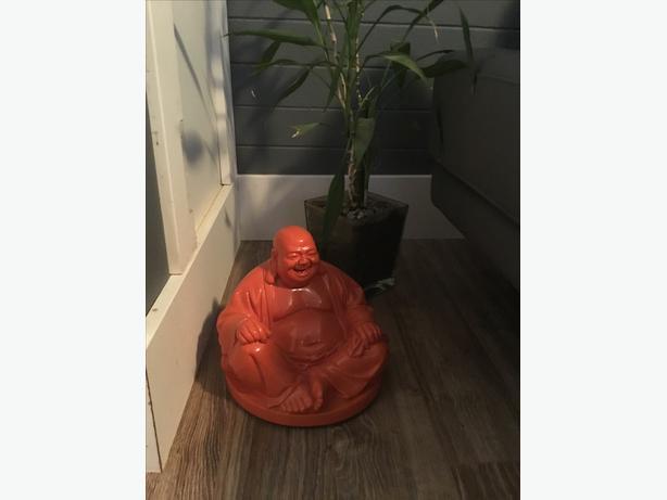 Orange laughing Buddha from Urban Barn Reg price $55