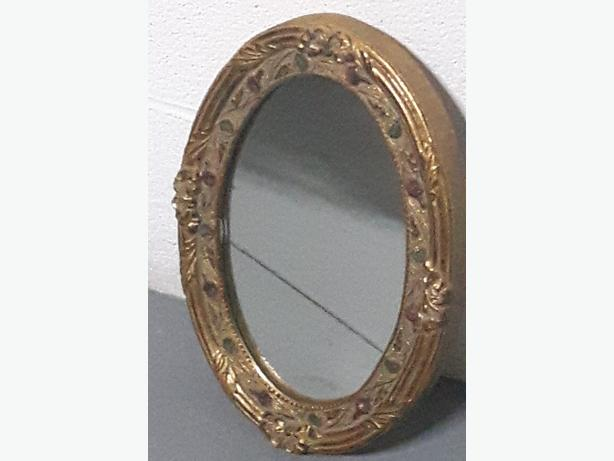 Mirror antique. Gold gilding European Antique