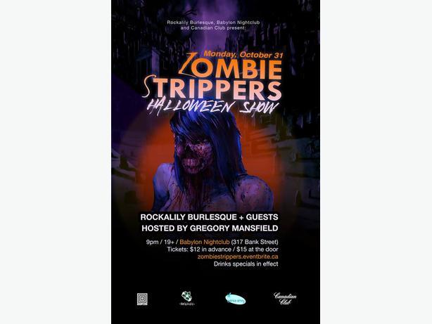 Rockalily Burlesque's Zombie Strippers Halloween Show