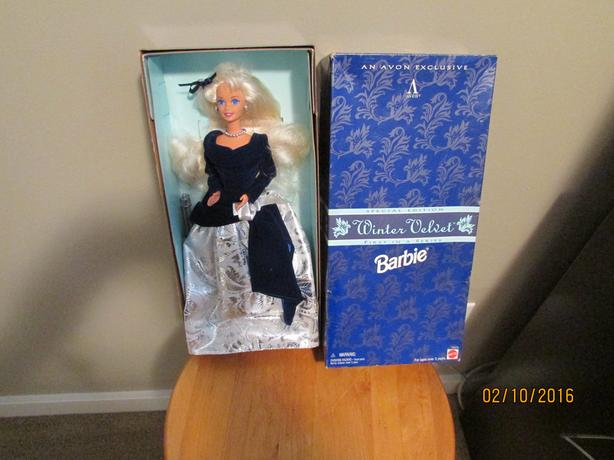 Winter Velvet Barbie doll