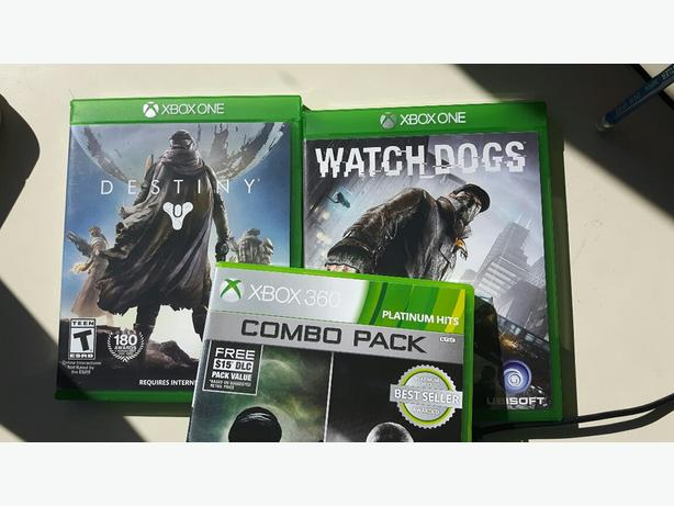 Xbox One games (Destiny and Watch dogs)