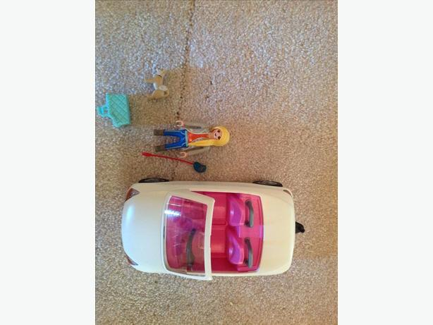 Playmobil Girl and car