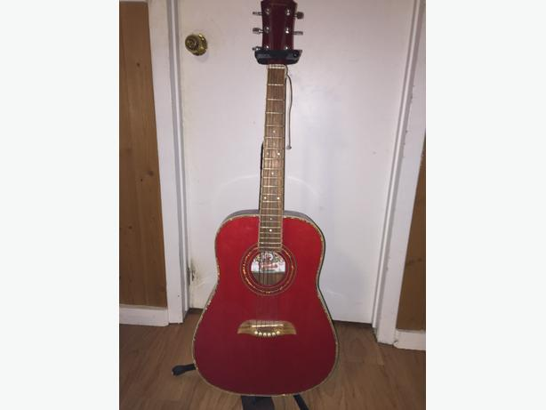 Oscar Schmidt by Washburn Acoustic Guitar with stand