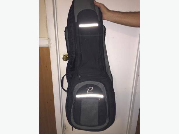 Padded electric guitar carrying case/ backpack