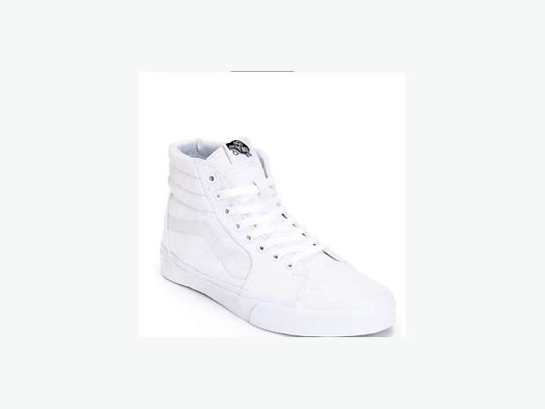 BRAND NEW Vans Sk8-Hi True White Canvas Skate Shoes