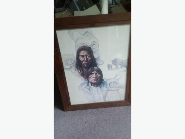 Pair of Plains Indian Heritage Prints by Canadian Paul Ygartua