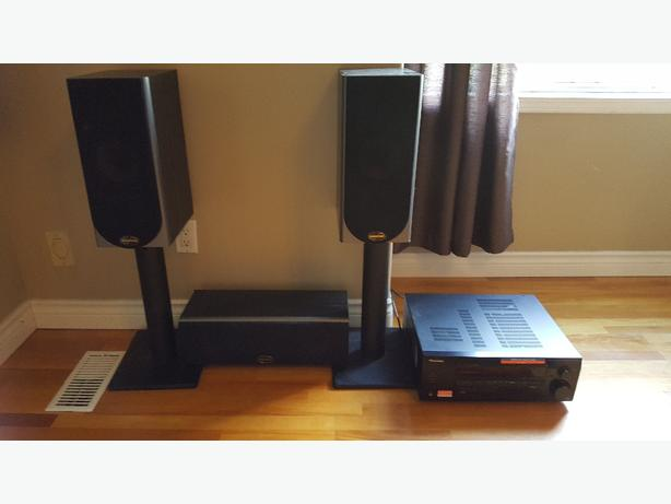 soundstage speakers, stands and pioneer amp
