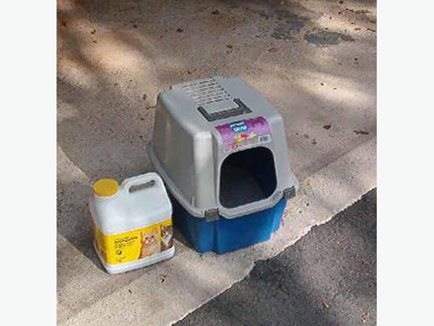 Cat litter center