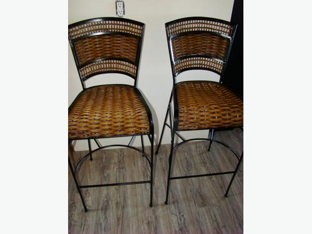 Two Rattan Bar Stools $75 each