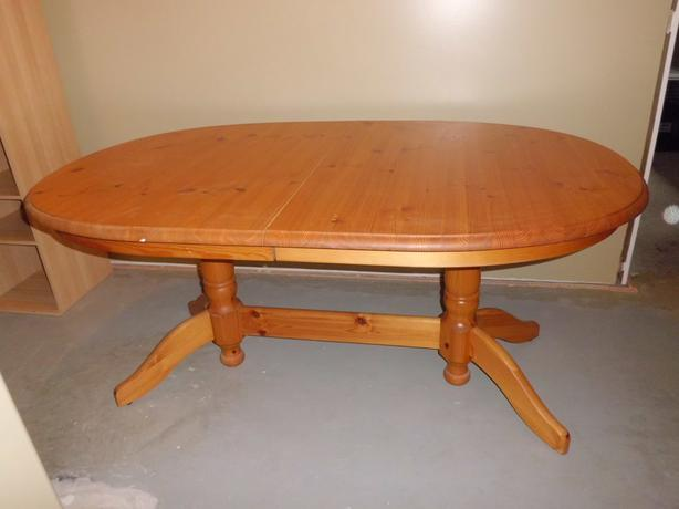 Solid pine 2 pedestal dining table for sale