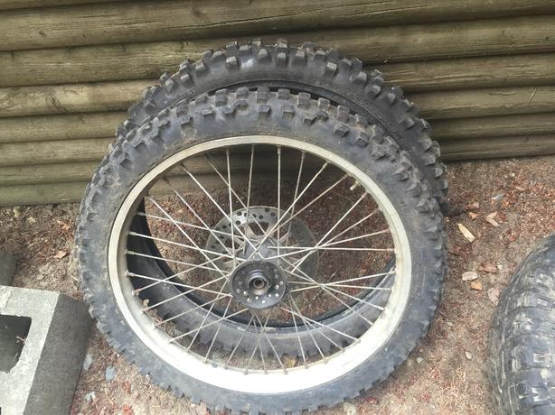 two front dirt bike tires
