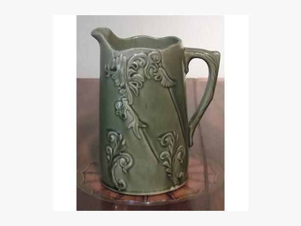 Brantford Pottery Green Glazed Pitcher