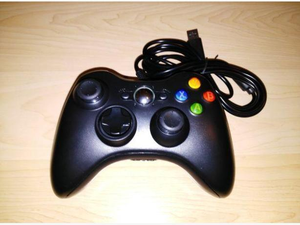 New Black Wired Xbox 360 / Windows Controller