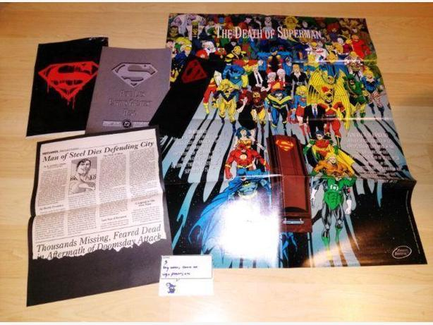 Death Of Superman #75 Comic Book With Poster, Arm Band etc