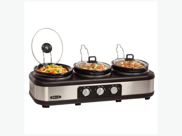 Bella 3 x 2.5qt Triple Slow Cooker