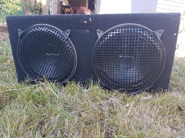 "10"" Eclipse subwoofers with box"
