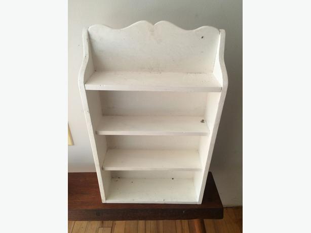 "White vintage shelf 21"" inches high"