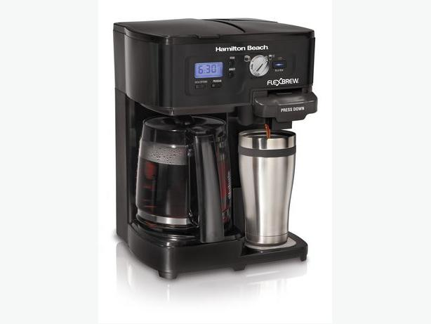 Hamilton Beach 12- Cup 2-way FlexBrew Coffee Maker- 49985C