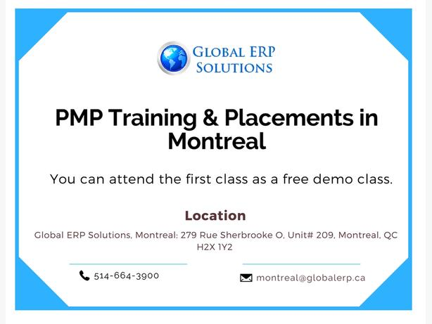 PMP Training & Placements in Montreal