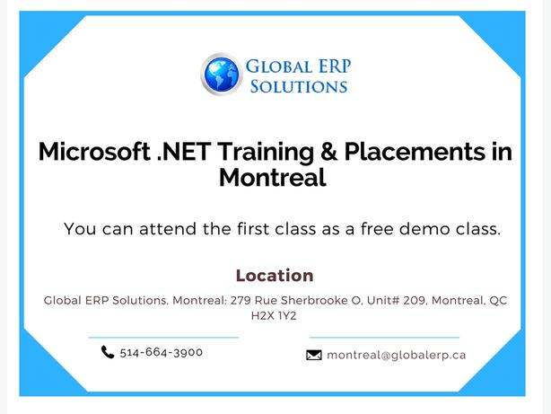 Microsoft .NET Training - Montreal
