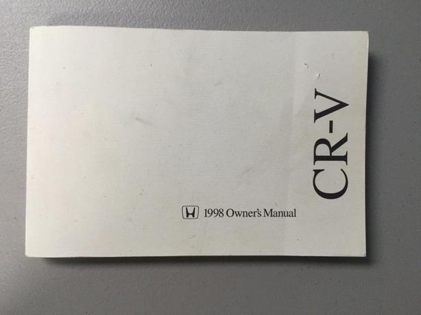 1968 Honda CR-V Owners Manual
