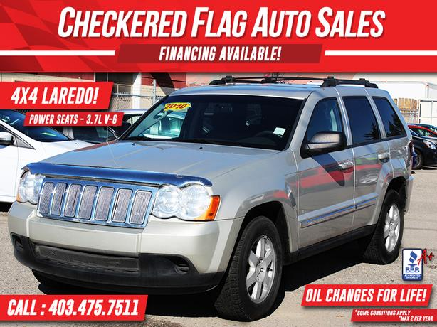 2010 JEEP GRAND CHEROKEE LAREDO W/ 4X4-POWER SEATS-PREMIUM CD