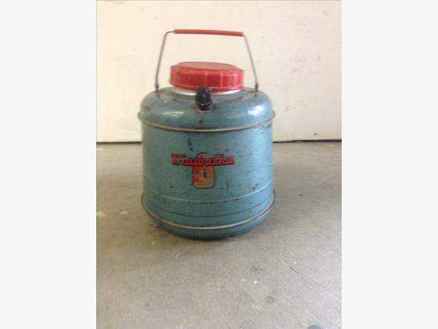 Vintage metal insulated canister