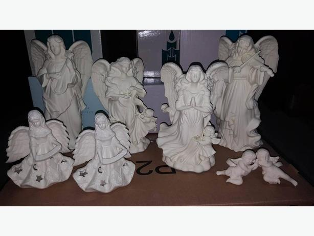 PartyLite Holiday Angel Candle Holders