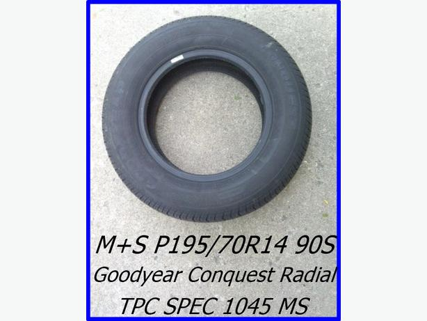 P195/70R14 M+S 90S One Goodyear Conquest Radial