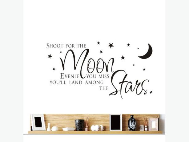 New Shoot for the moon wall decal