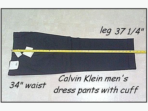 "Men's Calvin Klein Dress Pants Black 32"" waist x 37 1/4"" leg"