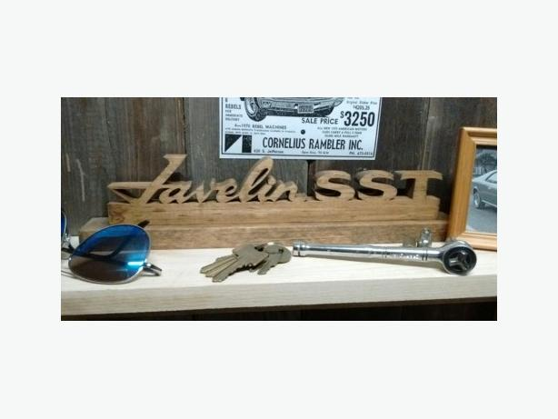 Auto emblem themed wall plaques & shelf signs